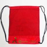 Sacs à dos en nylon rouges du cordon 210d d'OEM pour la course