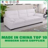 Sofá de couro macio para sala de estar