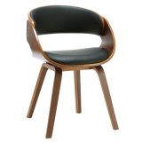 En simili-cuir chaise de salle à manger en bois cintré15948-4 (W)