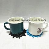 コップのマットが付いている昇進のギフトの台所用品のエナメルのコーヒーカップ