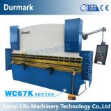 Machine à cintrer de tôle d'acier, frein de presse hydraulique de commande numérique par ordinateur de Wc67K