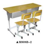 Mesa da escola da mobília da venda quente e jogo de madeira da cadeira