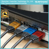 Алюминиевым кабель раковины 24k покрынный золотом HDMI с локальными сетями для 3D