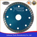 le carreau de céramique de 105mm scie le découpage de tuile de Turbo de lame