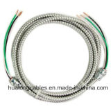 Cable revestido del metal del cable de Mc, acorazado de aluminio, 600V Mc 12-2