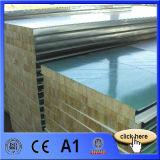 El panel de emparedado incombustible de las lanas de roca para la casa prefabricada