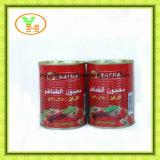 Inserimento di pomodoro dell'alimento inscatolato dai pomodori naturali