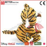 Brinquedo de pelúcia de tigre de bebê de pelúcia