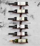 Muur Opgezet Metaal 6 het Rek van de Opslag van de Wijn van de Fles