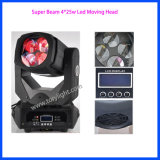 Superhelles bewegliches Hauptlicht 4PCS*25W des träger-LED