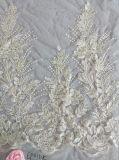 刺繍の花嫁のウェディングドレスファブリック