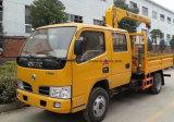 De Cabine van de bemanning 3 van de Kraan van de Vrachtwagen van de Vouwbare Ton Vrachtwagen van het Wapen Opgezet met Kraan