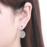 Argento sterlina 925 2 orecchini da portare della vite prigioniera di stile, orecchini delle coperture del fiore delle piante