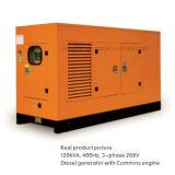 gerador 3-Phase do MID-Frequency 208V de 120kVA 400Hz psto por Cummins Engine