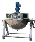 Camada dobro de aquecimento de vapor que cozinha a chaleira com agitador de mistura
