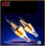 La iluminación LED SMD de 3W Bombilla vela con lámpara de larga cola mejor precio de las lámparas LED Iluminación LED
