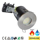 Indicador de incêndio LED GU10 Downlight, IP65 Luz do banheiro, Tecto embutido GU10 Downlight
