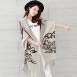 Le donne adattano il cardigan di inverno della frangia lavorato a maglia nylon viscoso (YKY2068)