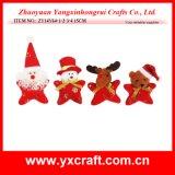 Рождества сердца украшения рождества (ZY14Y289-1-2-3-4) хлопко-бумажная ткань красного поли
