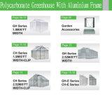 Invernadero del jardín del marco de aluminio de la hoja del policarbonato pequeño para el sistema de la flor