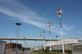 wind van de Turbine 10m80W van de LEIDENE de Verticale Wind van de As/Zonne Hybride Straatlantaarn
