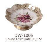 Dw-1005 Cerámica Porcelana plato de fruta 6'', el 10''.