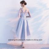 O elegante Pescoço Lace Tulle Bridesmaid vestidos com camisas Meia