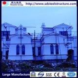 Casa prefabricada constructiva de la estructura de acero del marco de la luz del palmo ancho