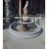 Lady Statue Stand L'arrosage de la sculpture sur pierre Fontaine pour la décoration de jardin (sy-F003)