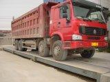 Os côordenadores instalam a escala do caminhão (60Ton, 3X18m)