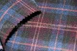 Os fios tingidos T/R tecido, Plaid tecido, 65%32 poliéster%Rayon 3%elastano, 240gsm