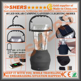 Portable Solar Powered 60 LED Camping Lantern 2 Modes d'éclairage USB Outlet Swing Handle Hanging Hook