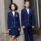 Custom Navy Blue School Uniform Blazer