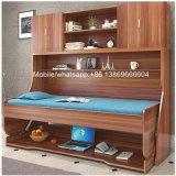 Hot Sale Lit en bois moderne Murphy avec bureau et cabinet