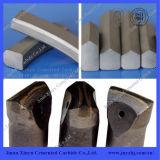 La pièce à outils de machinerie de forage utilise des conseils de brasage en carbure cimentés