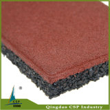 20mmの赤いカラー運動場のためのゴム製床タイル