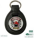 Cuoio su ordinazione Keychain di promozione con il marchio timbrato