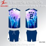 Voleibol Jersey do Sublimation da tintura do Sportswear do projeto da forma de Healong