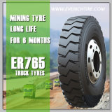 chinesischer Reifen-Schlamm-Gummireifen-Gebirgs-LKW-Radialreifen des Bergbau-11r22.5 mit PUNKT Reichweite