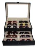 Caso di visualizzazione di cuoio del MDF Eyewear di qualità per i mestieri ottici della mano del regalo dei monili dello spettacolo degli occhiali da sole (X031)