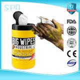 Очищая и инструменты руки и индустрии намочили Wipe