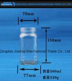 Квадратный бессвинцовый стеклянный опарник варенья опарника для хранения