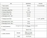 Ionenzelle der Leistungs-Kinetik-18650 des Lithium-1500mAh