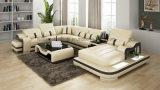 Projeto luxuoso do armazenamento do sofá de Mdoern do couro do tamanho G8027