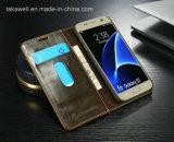 La meilleure caisse en cuir de vente d'unité centrale de la chiquenaude 2016 pour le cas de couverture de téléphone portable de la galaxie S7 de Samsung