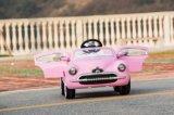 Carro do vintage do bebê com o carro elétrico do brinquedo das crianças de controle remoto