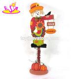 Comercio al por mayor personalizar la forma de árbol de la pared de madera de los niños decoración para Halloween W09D031