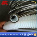 Boyau flexible tressé de SS304/316 PTFE/boyau compliqué de PTFE
