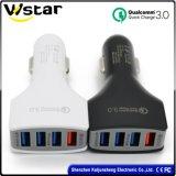QC3.0 порта, 3 порта USB автомобильное зарядное устройство с электроприводом