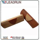 Vidrio de Sun unisex polarizado plástico de la PC del cabrito del acetato del metal del deporte de Sunglass de la manera del metal de madera de la mujer (GL66)